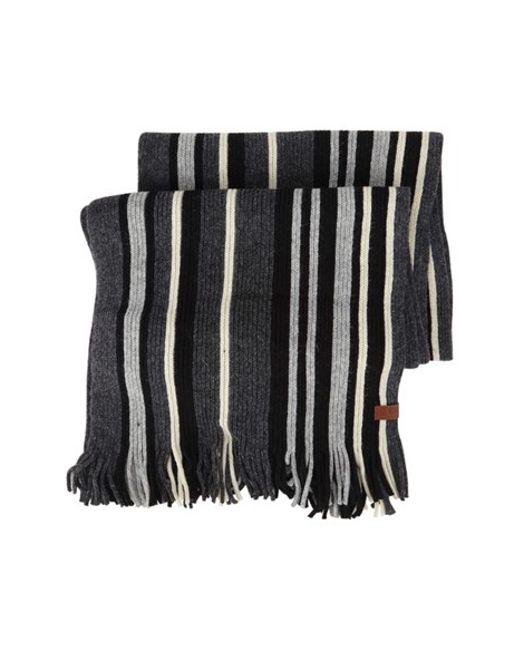 Vertical Striped Scarf Knitting Pattern : Ben sherman Vertical Stripe Knit Scarf in Multicolor for Men (JET BLACK) Lyst