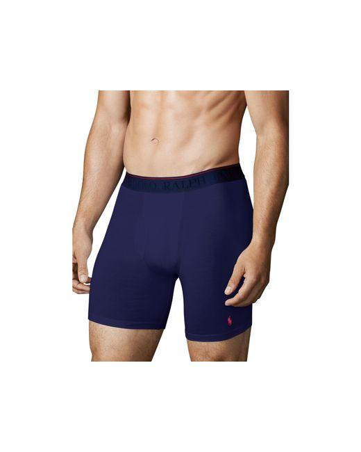 Polo Ralph Lauren   Blue Supreme Comfort Long Boxer Briefs, Pack Of 2 for Men   Lyst