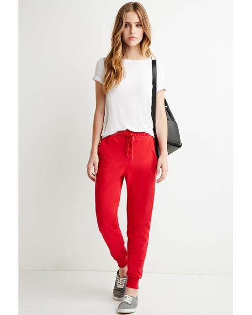 Forever 21 | Red Classic Drawstring Sweatpants | Lyst