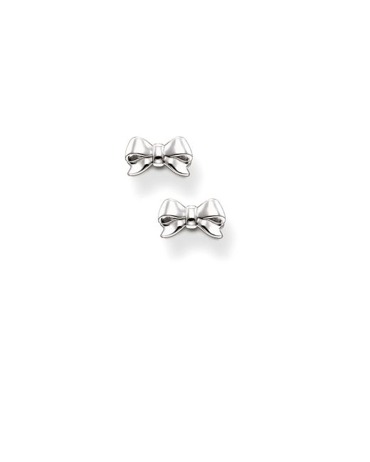 Thomas Sabo | Metallic Bows And Bears Small Bow Earrings | Lyst