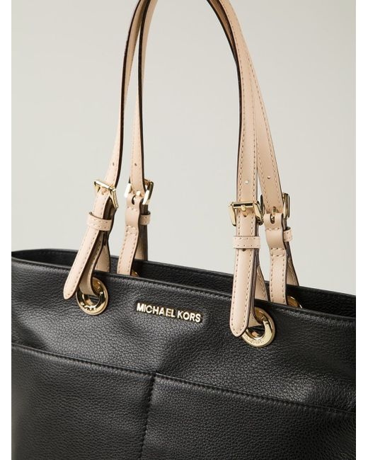black leather 39 bedford 39 tote from michael michael kors. Black Bedroom Furniture Sets. Home Design Ideas