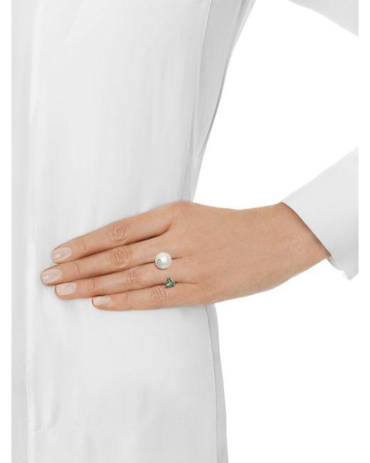 Delfina Delettrez | Metallic Diamond, Topaz, Pearl & Yellow-gold Ring | Lyst