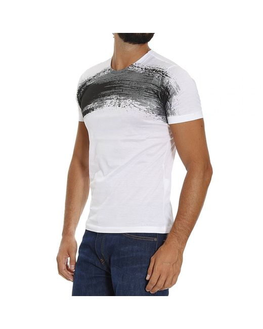 Emporio Armani | Black Printed T-shirt for Men | Lyst