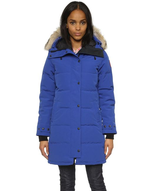 Canada Goose | Blue Shelburne Quilted Down-filled Parka Jacket  | Lyst