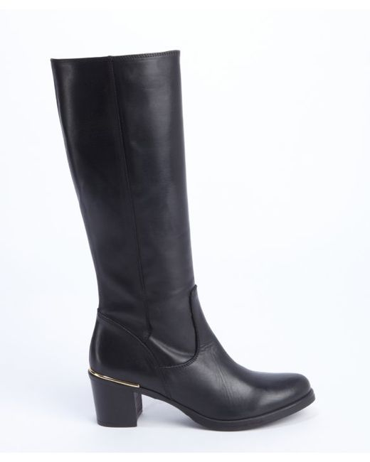 charles david black leather side zip jacob boots in