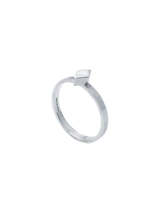 Edge Only | Metallic Diamond Stacking Ring Silver | Lyst