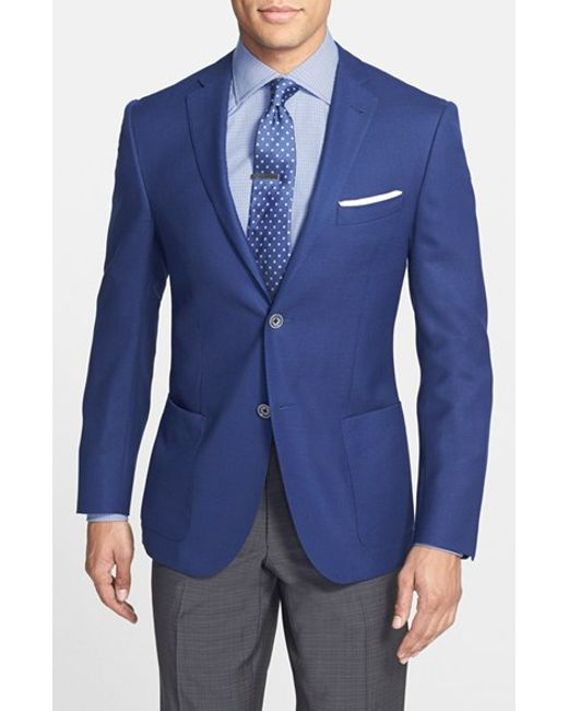 Corneliani | Blue Classic Fit Wool & Flax Blazer for Men | Lyst