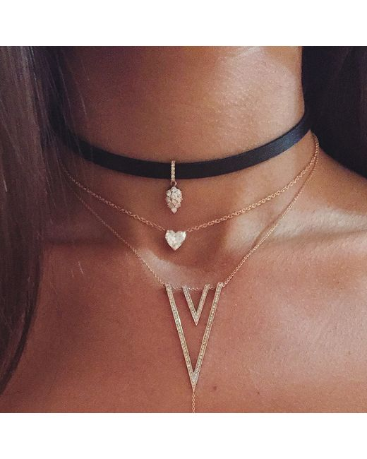 Carbon & Hyde | Metallic Reign Hyde Choker | Lyst