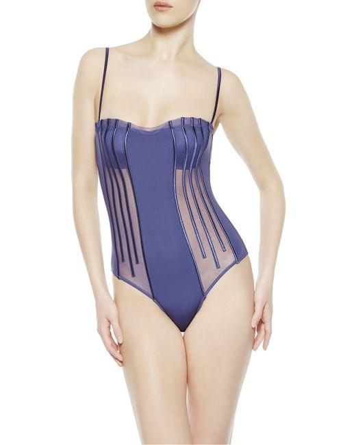 La Perla | Blue Beachwear Bodysuit | Lyst