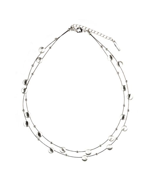 Nine West | Metallic Double Row Chain Necklace | Lyst