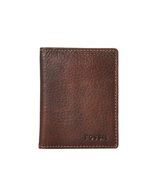 Fossil   Brown Lincoln Card Case Bifold for Men   Lyst