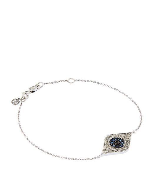Sydney Evan | Metallic Large Pavã© Diamond Evil Eye Bracelet | Lyst