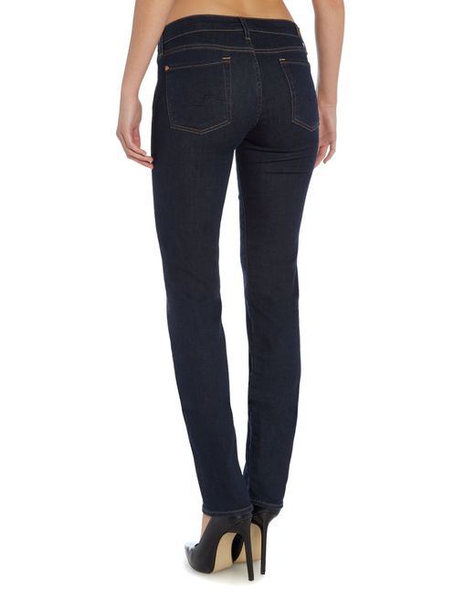 7 for all mankind roxanne slim jeans in long dark beach in. Black Bedroom Furniture Sets. Home Design Ideas