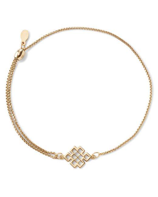 ALEX AND ANI   Metallic Precious Metals Symbolic Endless Knot Pull Chain Bracelet   Lyst