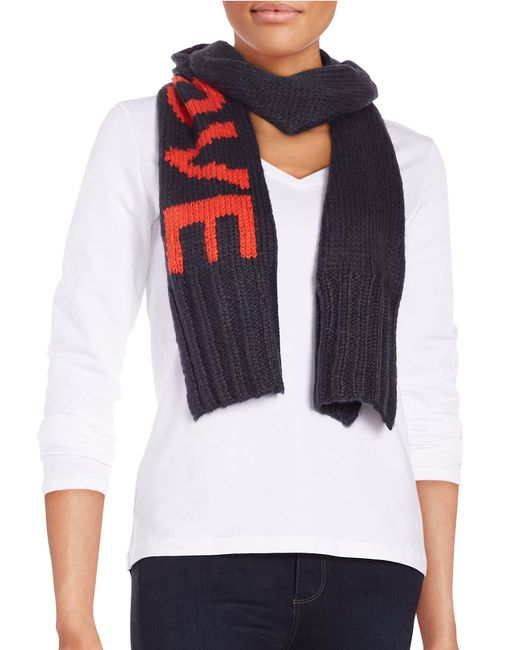Wooden Ships | Blue Love Knit Scarf | Lyst