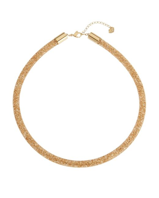 Swarovski - Metallic Gold-Tone Stardust Necklace - Lyst
