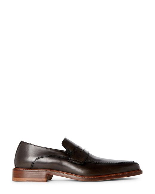 Bruno Magli Dark Grey Jesse Leather Penny Loafers in Gray ...