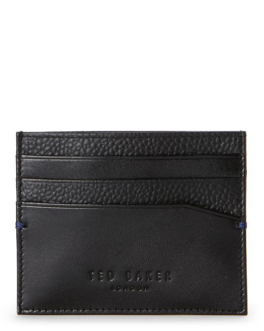 Ted Baker | Black Contrast Leather Card Case | Lyst