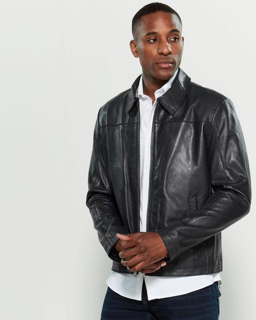 e48c5d2d40 Lamarque - Blue Alfie Leather Jacket for Men - Lyst ...