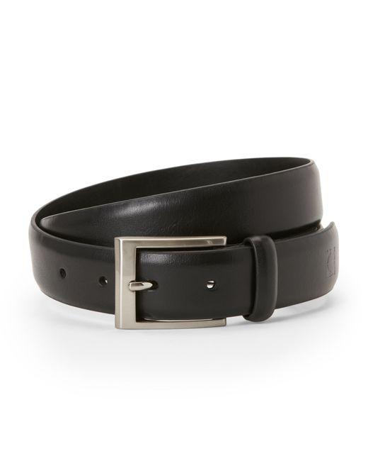 kenneth cole reaction logo stamped belt in black for men