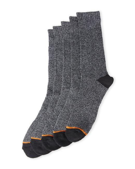Weatherproof | Black 5-Pack Thermal Crew Socks for Men | Lyst