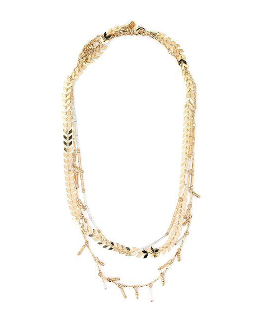 Rebecca Minkoff - Multicolor Gold-tone Layered Necklace - Lyst