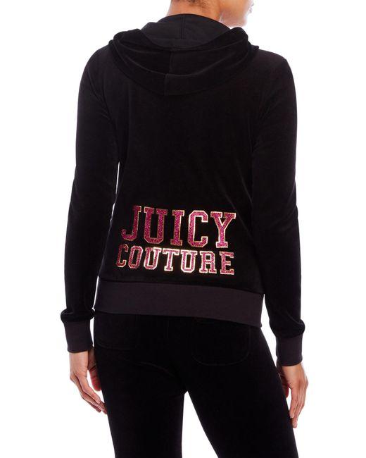 Juicy Couture Black Label Robertson Velour Jacket In Black