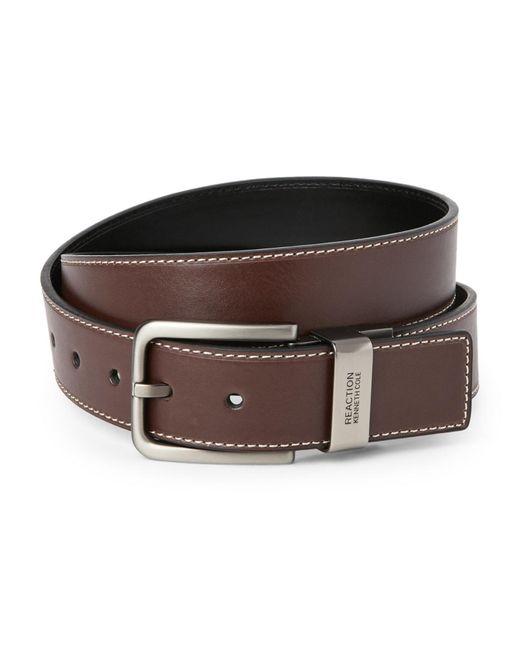 Kenneth Cole Reaction - Black & Brown Reversible Stitch Belt for Men - Lyst