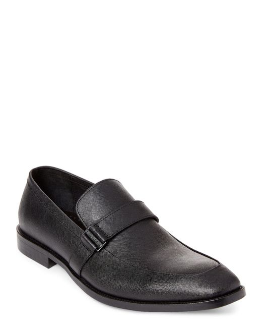 Kenneth Cole - Black Major Ticket Leather Loafers for Men - Lyst