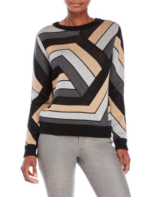 Shae | Black Geometric Patterned Sweater | Lyst