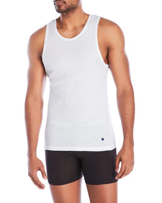 Lucky Brand - White 3-Pack Ribbed Tanks for Men - Lyst
