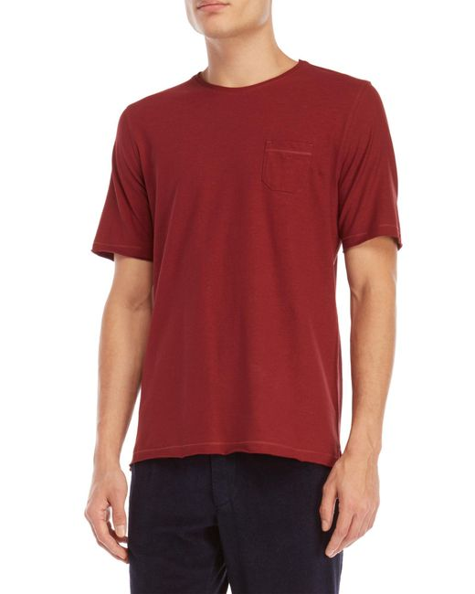 Roberto Collina - Red Pocket Tee for Men - Lyst