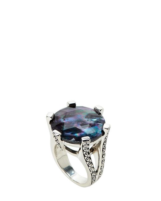 Stephen Dweck - Blue Mother-of-pearl & Hematite Ring Size 7 - Lyst