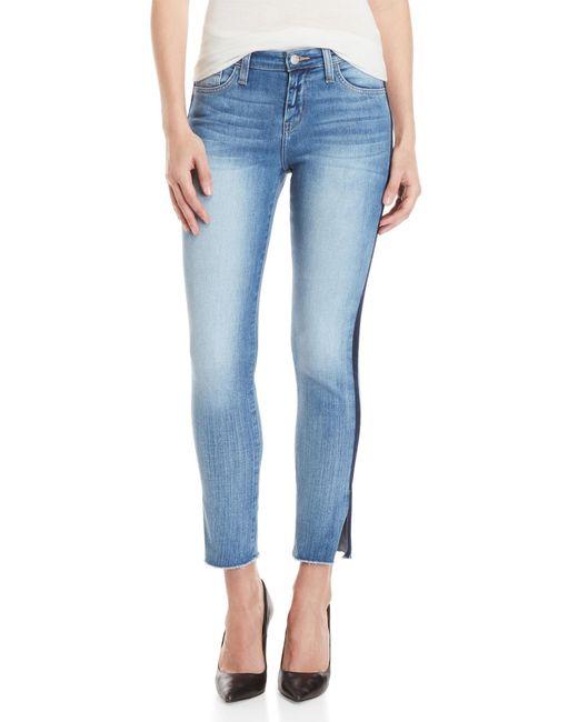 Flying Monkey - Blue Tuxedo Stripe Mid-rise Skinny Jeans - Lyst