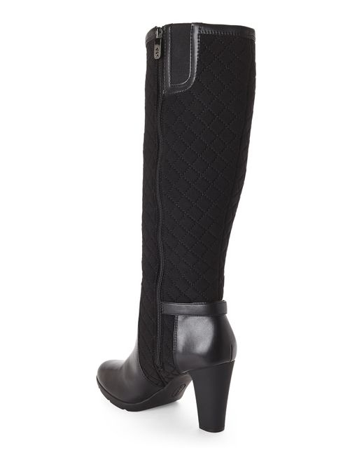 Ak Anne Klein Black Xtended Tall Boots In Black Save 54