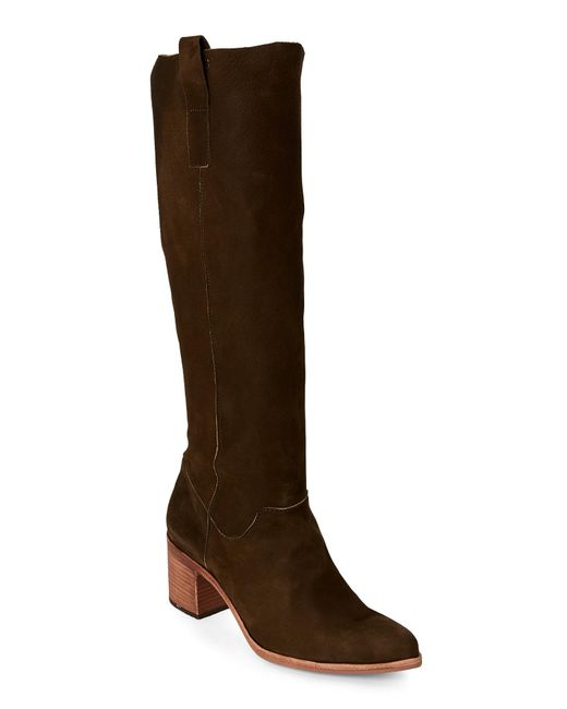Steven by Steve Madden | Green Olive Duval Pointed Toe Tall Boots | Lyst