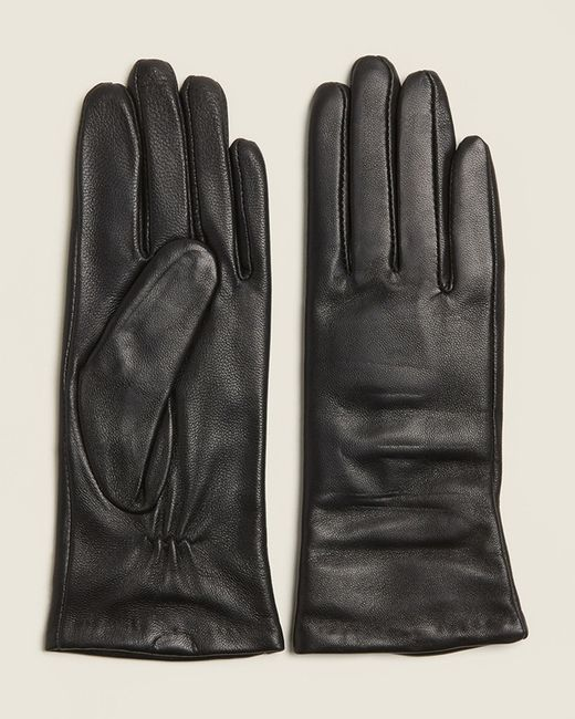 Imperial Black Cashmere-lined Leather Gloves