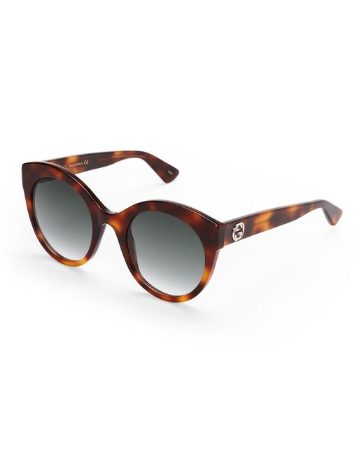 Gucci | Brown Gg0028s Oval Sunglasses | Lyst