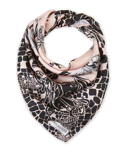 Emilio Pucci | Pink Printed Square Silk Scarf | Lyst