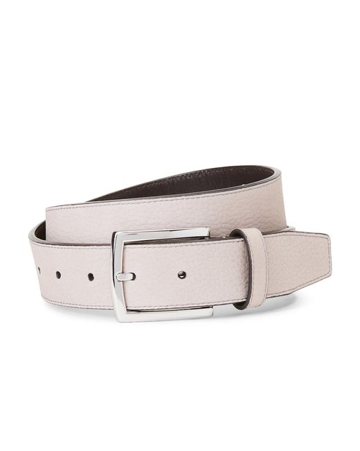 Cole Haan - Gray Grey Harness Leather Belt - Lyst