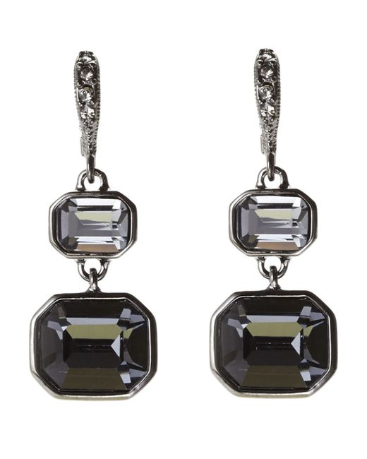 Givenchy | Black Hematite-Tone Drop Earrings | Lyst