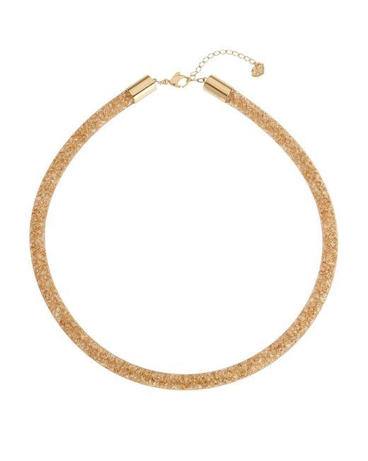 Swarovski   Metallic Gold-Tone Stardust Necklace   Lyst