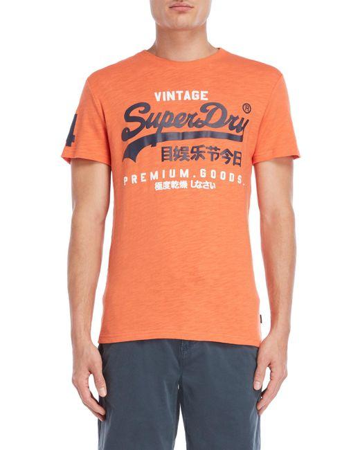 Superdry - Orange Premium Goods Duo T-shirt for Men - Lyst