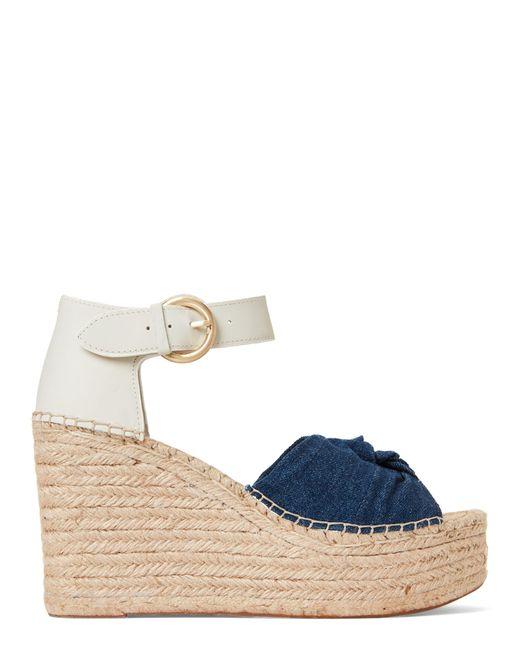d3d7219a758 Women's Blue Anty Platform Wedge Espadrille Sandals