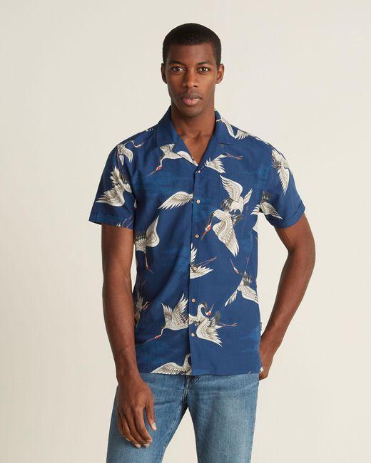 kultivate Blue Dark Navy Crane Shirt for men