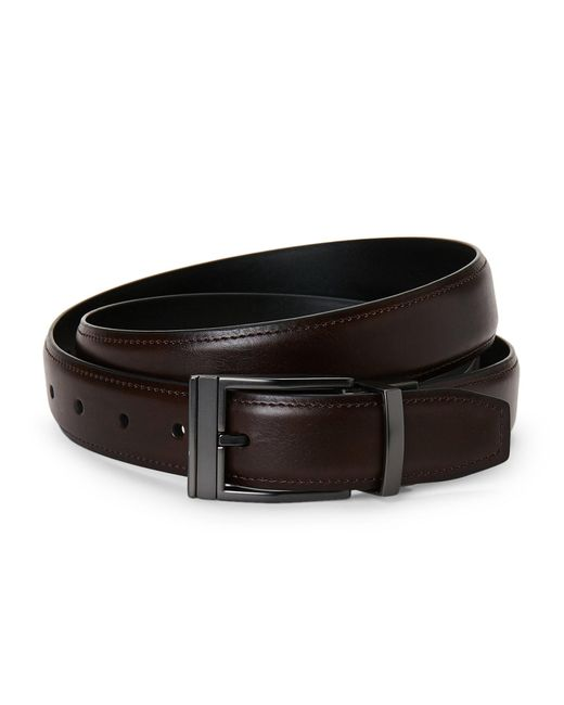 Kenneth Cole Reaction - Black Reversible Faux Leather Belt for Men - Lyst