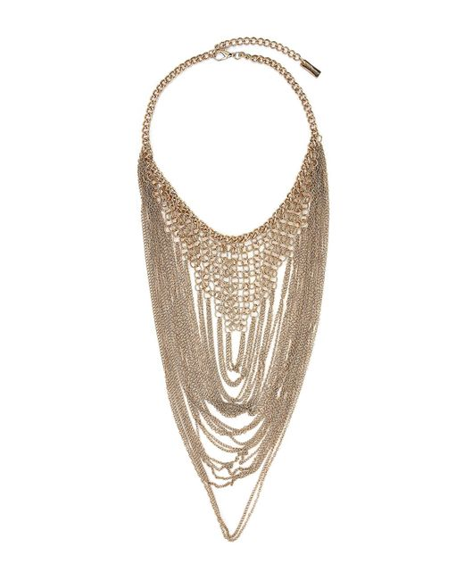 Steve Madden - Metallic Gold-tone Layered Chain Necklace - Lyst