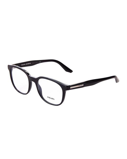 Prada - Vpr 04u Black Round Optical Frames - Lyst
