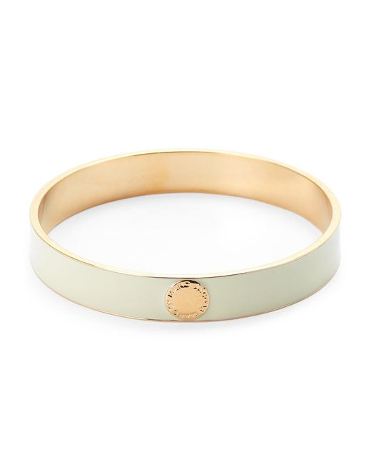 Marc By Marc Jacobs - Metallic Cream & Gold-Tone Classic Marc Logo Bangle - Lyst