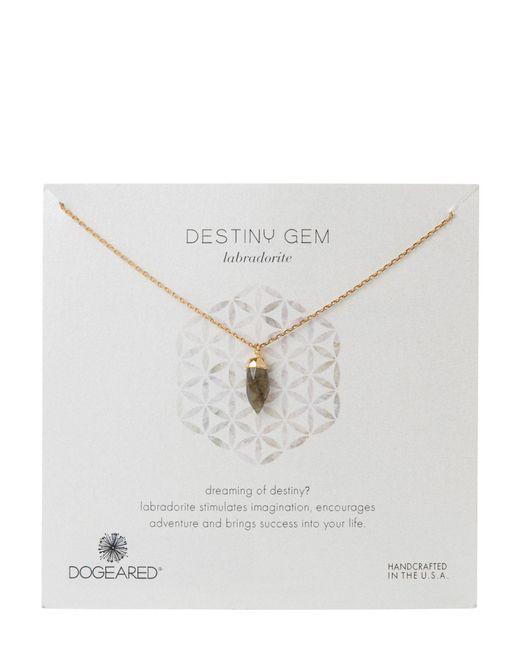Dogeared | Multicolor Gold-Tone Destiny Gem Labradorite Necklace | Lyst